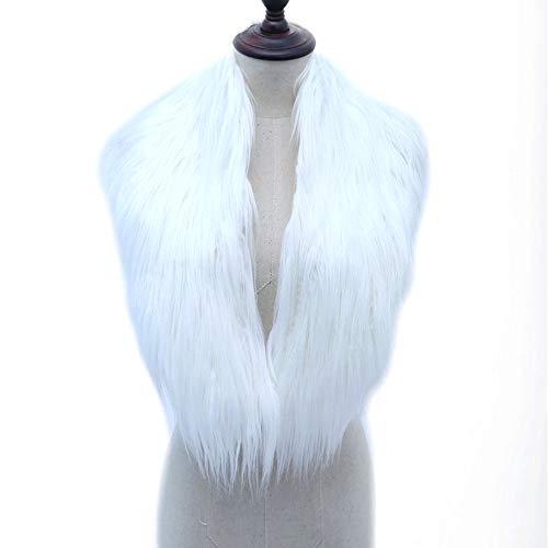 Winter White Cashmere (GAOQQ Kunstpelz Schal, Herbst Und Winter Pelzkragen,White)