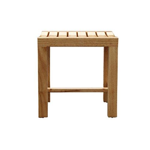 Dusche/Badehocker Holz-Duschsitz Hocker Holz-Wanderschuhe Hocker für ältere Menschen/Behinderte Anti-Rutsch-Hochleistungs-Duschsitz Hocker für Dusche/Bad Max. 250kg (größe : 42 * 28 * 43cm)