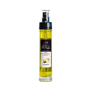 ANTICA SICILIA   HUILES AROMATIQUES   Huile d'olive Extra Vierge avec du Citron   5 cl.   SPRAY