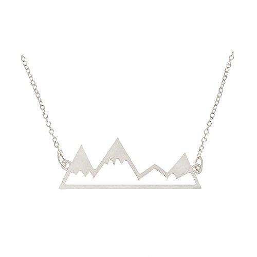 Lureme Neu Kreativ Metall Die endlose Berge Anhänger Halskette für Frauen-Silber (nl005821-2)