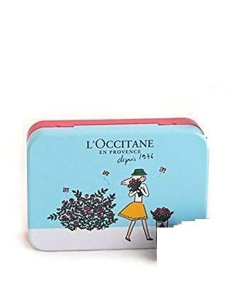 L'Occitane 3tlg. Handpflegeset Hand Cream mit zwei unterschiedlich sortierten Sorten a 10ml und Metallbox für schöne gepflegte Hände - Einfach ein süsses Geschenk -