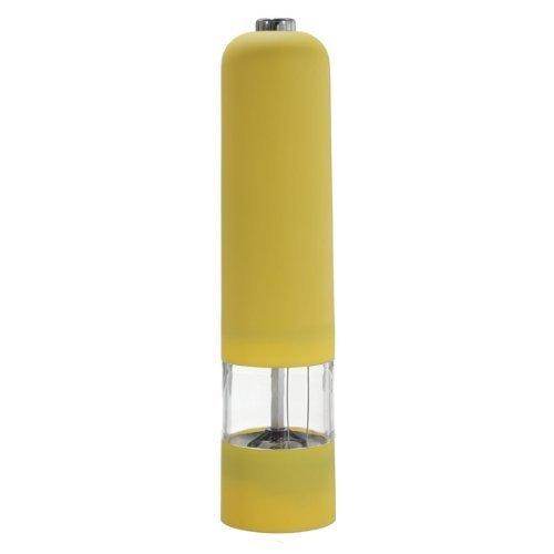 DaHanBL Creative Kunststoff Elektrische Gewürz-Salz Pfeffermühle Miller Grinder (gelb)