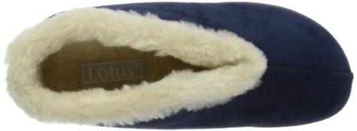 Lotus Hydranger, Pantofole Donna Blu  (Navy)