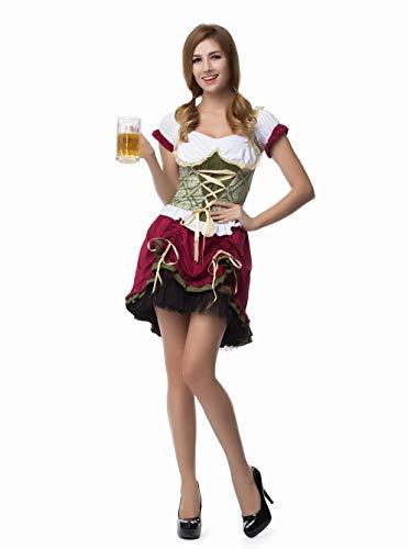 Ladies Bavaria Beer Girl Kostüm Deluxe Oktoberfest Wench - Wench Womens Kostüm