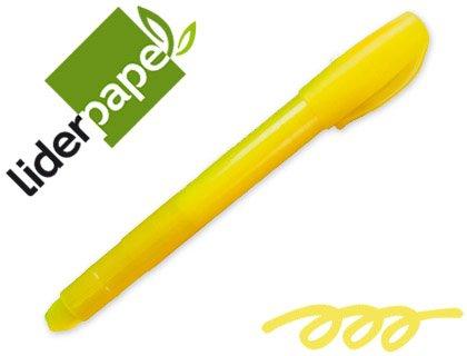 Q-Connect-Segnalibro liderpapel cera gel fosforescente giallo, confezione da 10 pezzi