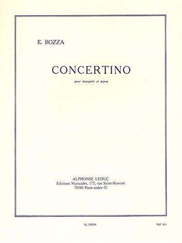 CONCERTINO TROMPETTE UT ET PIANO par BOZZA