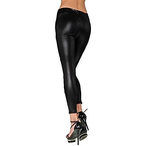 J-0212 Leggings donna mod. JUPITER effetto pelle