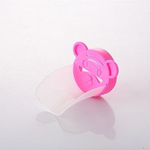 Inchant Transparent Kanal Rosa Tiger-Form-Kind-Baby-Handwasch Helper Sink Griff Verlängerung Kinder Badezimmer-Hahn-Extender mit Lebensmittelqualität Material, BPA / (Food Grade Pvc-material)