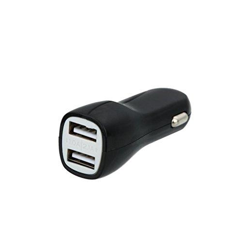 Wokee Kfz Ladegerät Ladestecker Dual USB 2.1A Metall Auto Ladegerät SchnellladeadapterAnschluss Aluminium Gehäuse Auto für iPhone für Samsung Gps-adapter Home Wand -