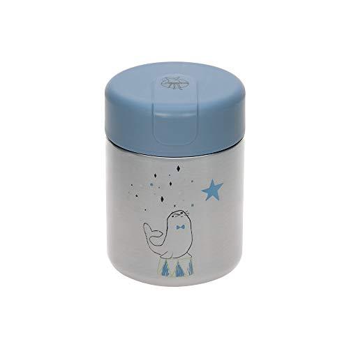 LÄSSIG Baby Kinder Thermo Warmhaltebox Brei Snacks auslaufsicher Edelstahl/Food Jar More Magic Seal, Blau