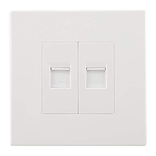 Keystone Modular Wall Plate (Garosa 2 Port Wall Plate Standardgröße Decorator Wallplates Keystone Jack Modulare Einsätze Elektrische Steckdosen Steckdosen Schalter(Dual Network Socket))