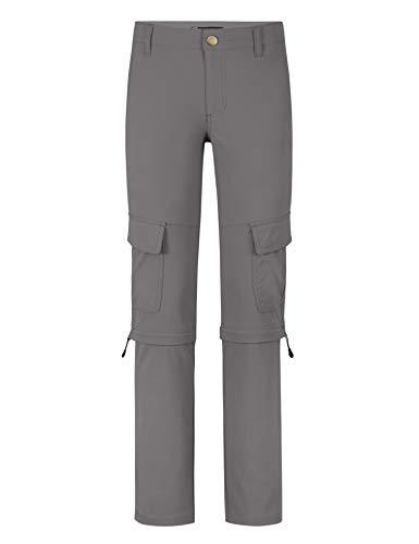 Jeff Green Damen Elastische Schnell Trocknende Outdoor Trekking Zip Off Funktions Hose Maddy, Größe - Damen:42, Farbe:Grey