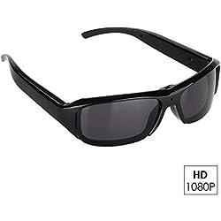 OOLIFENG Full HD 1080P DVR Lunettes Caméra Espion Photo Enregistrement Vidéo Lunettes Polarisées UV400 Télécommande avec Audio Enregistrement