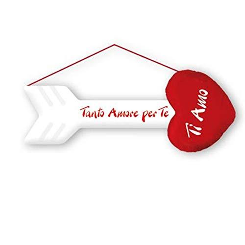 Dor san valentino freccia in peluches con cuore cm 60 tanto amore per te ti amo