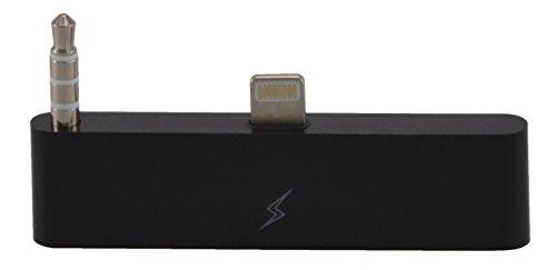 30 zu 8 Pin Audioadapter für das iPhone 6 Plus / 6S Plus zum Verbinden vom alten mit dem neuen iPhone-Anschluss 30 zu 8 mit Audio/ Ideal für Audioübertragung / iOS 11 in schwarz von VAPIAO