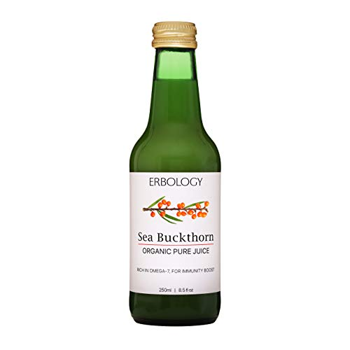Succo di Olivello Spinoso Bio 250ml - 100% Olivello Spinoso - Ricco di Omega-7 e Vitamina C - Supporta l'Immunità