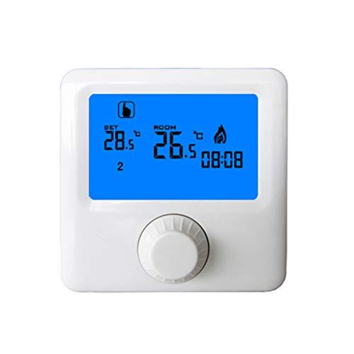 Losping LCD-Anzeige Wand-Kessel-Thermostat Wöchentliche programmierbare Raumheizung Digitaler Temperaturregler Thermostat -