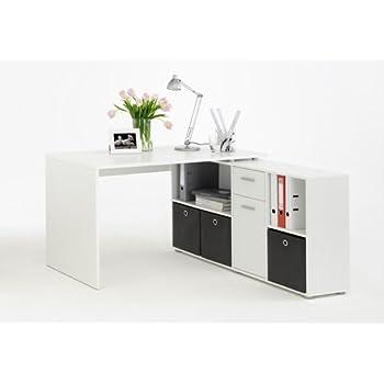 Schreibtischplatte weiß  Schreibtisch in weiß, Schreibtischplatte Maße: (Tisch) B/H/T ca ...