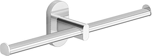Gedy 53291300200 G-Febo doppelter Toilettenpapierhalter