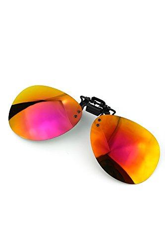 Ultraleicht polarisierte Clip-on-Flip-up-Sonnenbrille freie Objektiv-Linsen für die Verwendung im Freien Reisen Angeln Color 1