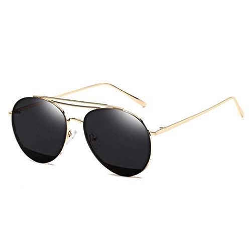 Gaodaweian Retro Vintage Metall kleine ovale runde Frauen Männer Mode Designer Sonnenbrillen (Color : Grey)