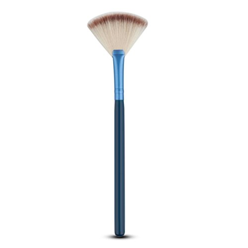 Fulltime® 1pc Fan Brush Portable Slim pinceau de maquillage professionnel