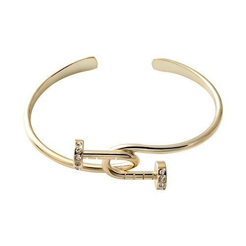 senfai Fashion 3Farben Twist Knoten Nail Armreif crystal Knoten Armreif Armbänder (Crystal Wire Armreif)