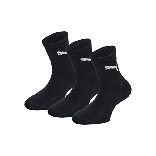 Puma Unisex Socken Short Crew 3er Pack, Schwarz (Black), 43/46