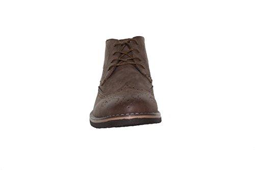 Findlay - Desert Boots,Long Wing, Aspect Cuir Marron