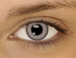 GRAY Colored Contacts Kontaktlinsen Dual Tone Farbige Kontaktlinsen Contact Lenses * FREE case included
