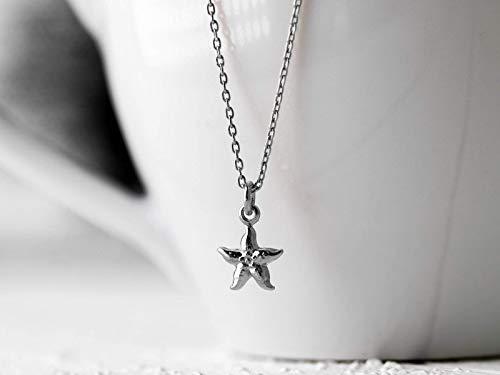 Zarte zierliche Glieder-Kette aus 925 Sterling-Silber mit einem kleinen See-Stern, ein tolles Geschenk