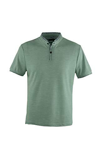 9d87c674f4b 0112Voray Ga Polo Hombre algodón Granito Cuello Mao Vivo Estampado (Verde  Agua, XL)