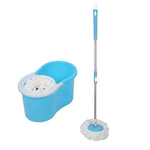 Turefans Wischmop Komplett-Set,bodenwischer Set- mit Mikrofaser Reinigungskraft (Blau)