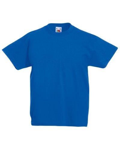 Fruit of the Loom Kinder Unisex T-Shirt, kurzärmlig 2-3-jährige,Königsblau (Web Jahr 1)