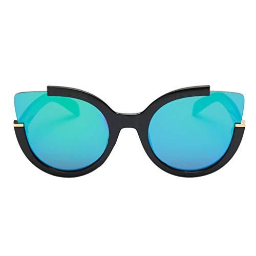 Guoxii Kostengünstige Katzenaugen-Sonnenbrille Vintage Sonnenbrille Mode Fahren Sonnenbrille für Frauen Cateye Brille im feinen Stil, N/A, Black Frame Green Mercury, 5