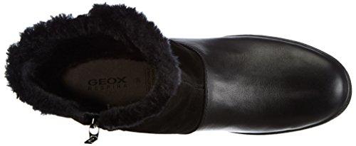 Geox - D Amaranth High B Ab, Stivali da neve Donna Nero (BLACKC9999)