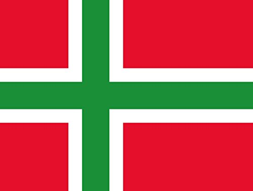 Preisvergleich Produktbild Flagge Denmark Bornholmsflaget | Unofficial flag of Bornholm Denmark | Querformat Fahne | 0.06qm für Diplomat-Flags Autofahnen