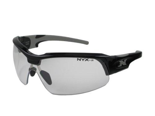 NYX Sport Vision Pro z-17Serie Sonnenbrille mit Z87.1Sicherheit Bewertung, black-gray Rahmen/transparent Sicherheit Objektiv, Medium