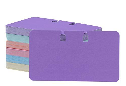 Paper Junkie Nachfüllkarten, blanko, gekerbt, verschiedene Farben, 6 x 10 cm, 200 Stück