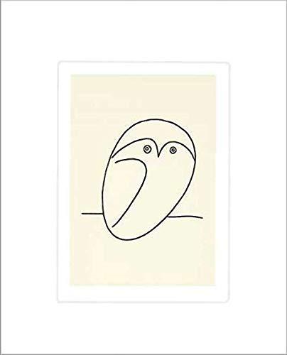 Kunstdruck/Poster: Pablo Picasso Die Eule - hochwertiger Druck, Bild, Kunstposter, 50x60 cm