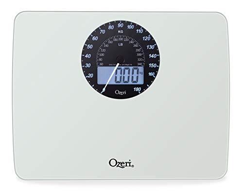 Digitale Badezimmerwaage Ozeri Rev mit elektromechanischer Gewichtsskala