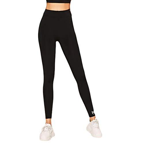 SOMEUSN Frauen High Waist Stripe Yoga Hosen Bauch Kontrolle Lauftraining Hosen Stripe Flare Leggings