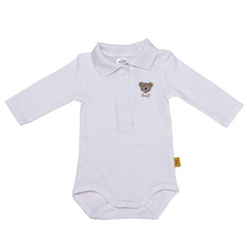 Steiff Unisex - Baby Body 0008713, Gr. 62, Weiß (bright white 1000)