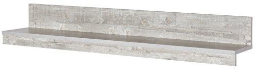 6.6.5.7.2957: Serie AWBW – made in BRD – schöne Anbauwand weiss-grau gescheckt dekor – Wohnzimmerschrank – TV-Wohnwand weiss-grau gescheckt dekor – Wohnschrank - 4