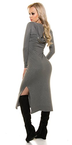 In-Stylefashion - Robe - Femme gris gris taille unique Gris