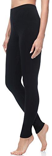Merry Style Damen Lange Leggings MS10-143 (Schwarz, M (Herstellergröße: 38))