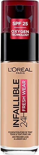 L'Oréal Paris Make-up designer Infalible 24H Fresh Wear Base de Maquillaje de Larga Duración - Tono 125 Na