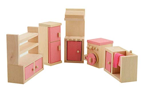 Wdyjmall madera conjunto muebles casa muñecas juguete