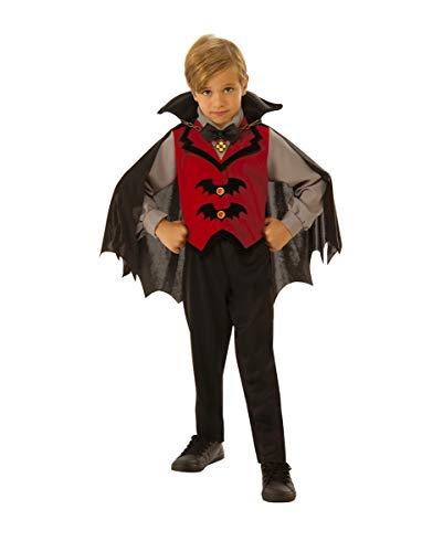 Horror-Shop Kleiner Vampir Baron Kinderkostüm für Halloween und Karneval M