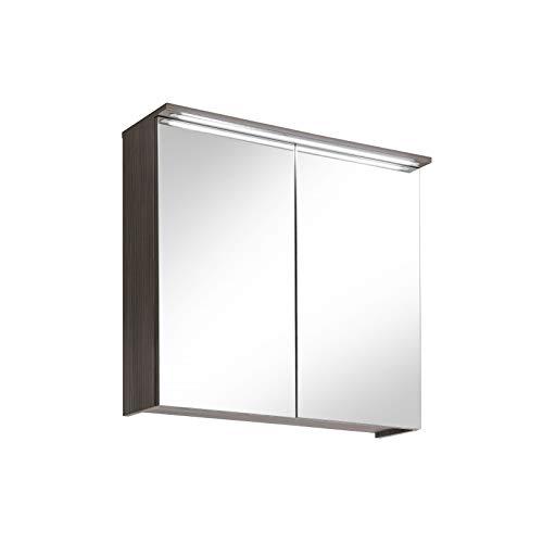 Cosmo Badmöbel mit Waschtisch - Badmöbel mit Spiegelschrank - 6 teilig